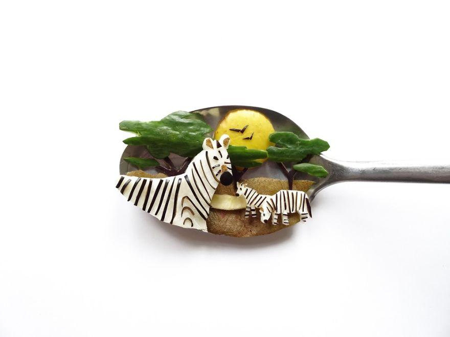 Food Art : el arte de la comida en cucharas