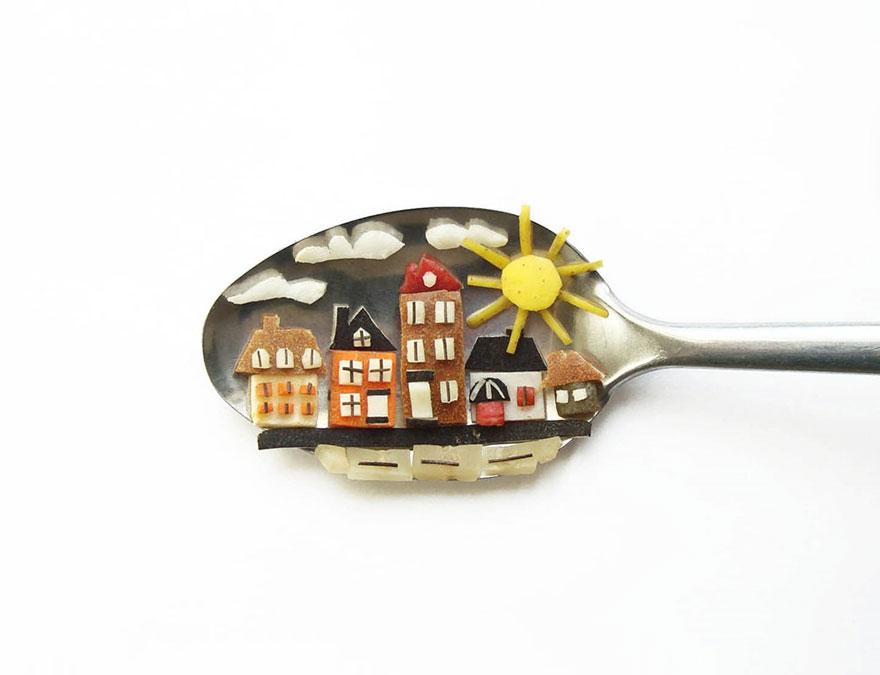 Food Art : el arte de la comida en cucharas 12