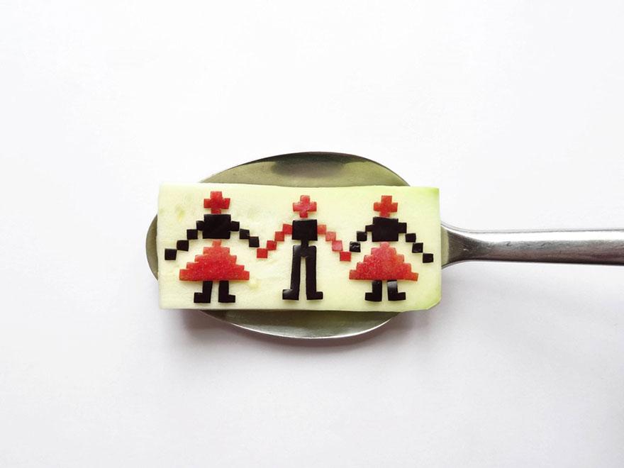Food Art : el arte de la comida en cucharas 10