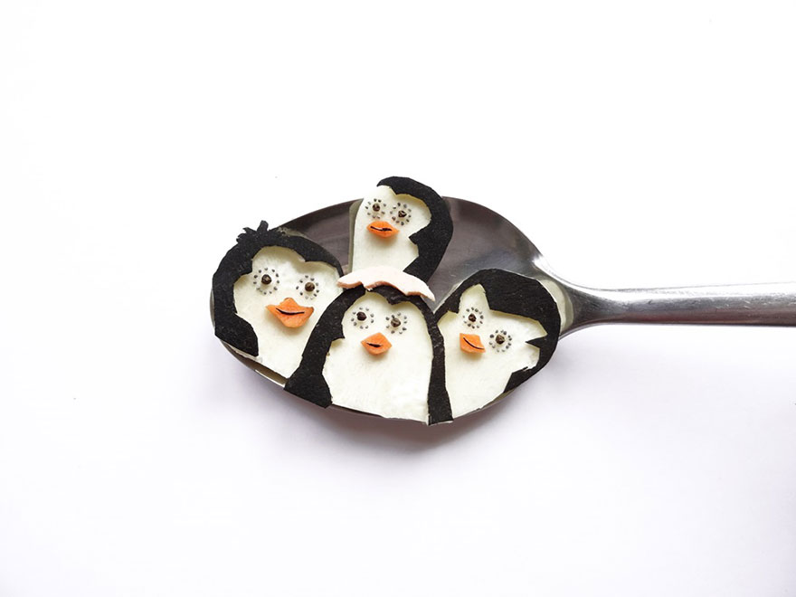 Food Art : el arte de la comida en cucharas 6