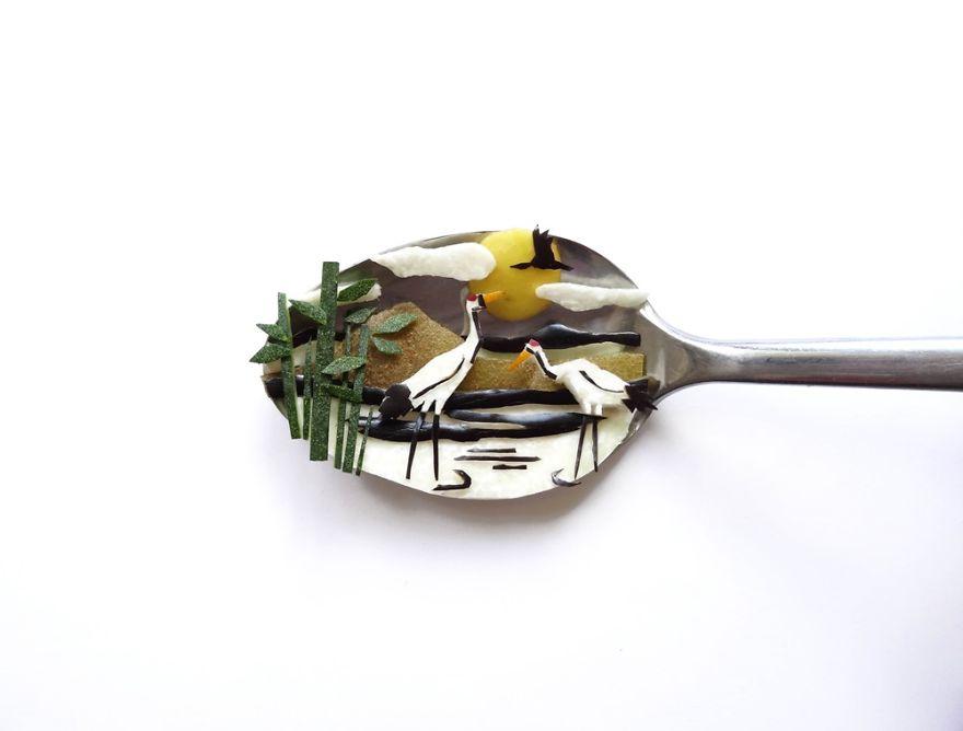 Food Art : el arte de la comida en cucharas 16