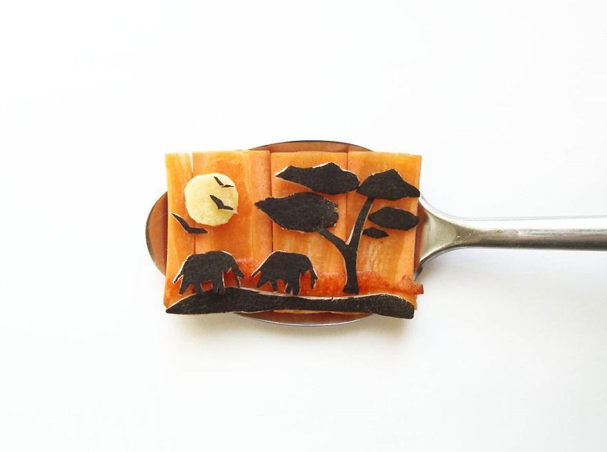 Food Art : el arte de la comida en cucharas 15