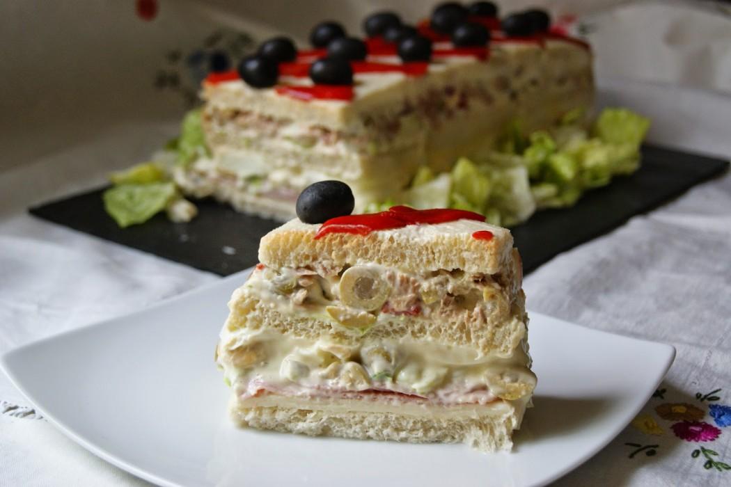 """""""Sandwichón"""": pastel salado frío, ¡fácil y rápido! 1"""