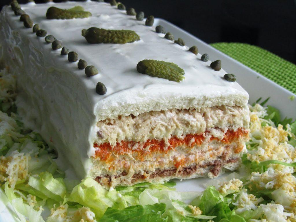"""""""Sandwichón"""": pastel salado frío, ¡fácil y rápido! 5"""