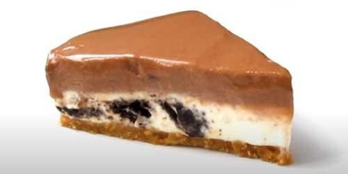 tarta de nutella y queso con base de oreo