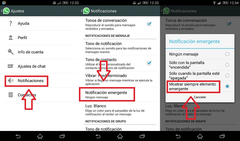 desactivar el doble check azul en WhatsApp
