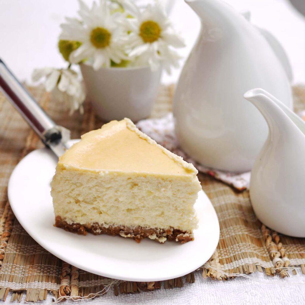 Tarta de queso light, fácil y rápida 6
